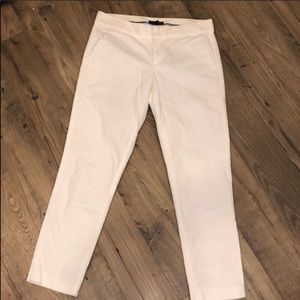 Tommy Hilfiger White Slim Straight Cropped Pants